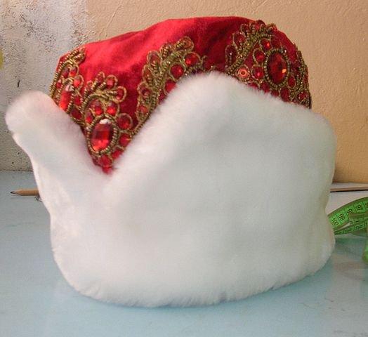 Как сшить шапку деда мороза своими руками